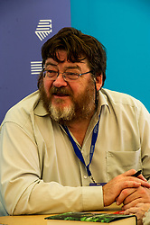 Pictured: John Burnside is a Scottish writer, born in Dunfermline. He is one of only two poets to have won both the T. S. Eliot Prize and the Forward Poetry Prize for the same book.<br /> <br /> Book fanatics headed to Charlotte Square in Edinburgh which is the hub of the international Book Festival to meet the authors and also to meet up with fellow fans of the printed word.<br /> <br /> <br /> Ger Harley   EEm 17 August 2017