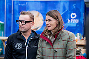 Bernhard van Oranje, initiatiefnemer van Lymph&amp;Co, heeft vandaag bekend gemaakt dat Lymph&amp;Co en het Van<br /> Vlissingen Lymfoom Fonds fuseren en verder gaan onder de naam Lymph&amp;Co.<br /> <br /> Op de foto:  Prins Bernhard van Oranje en prinses Annette