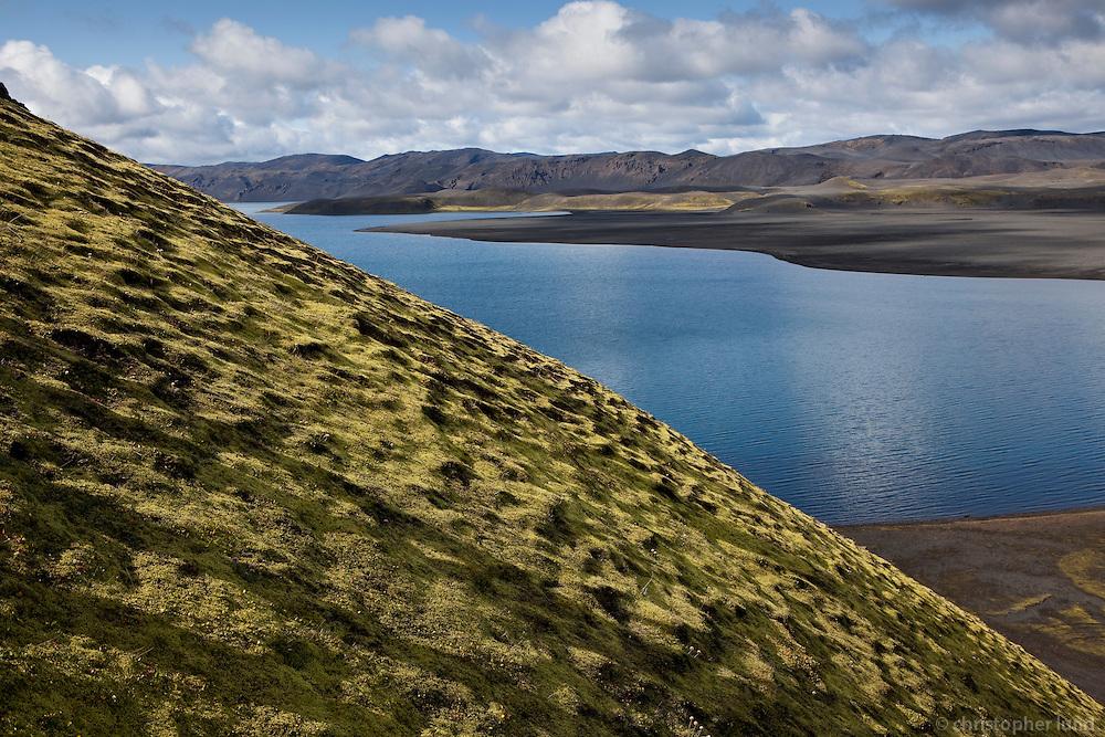 Við norðausturenda Langasjós. Lake Langisjor.