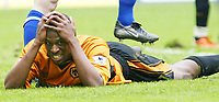 PREMIER DIVISION       1/5/2004<br /> WOLVES V EVERTON<br /> CARL CORT AFTER NEAR MISS IN THE LAST MINUTES
