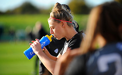 Flo Allen of Bristol City rehydrates- Mandatory by-line: Nizaam Jones/JMP - 27/10/2019 - FOOTBALL - Stoke Gifford Stadium - Bristol, England - Bristol City Women v Tottenham Hotspur Women - Barclays FA Women's Super League