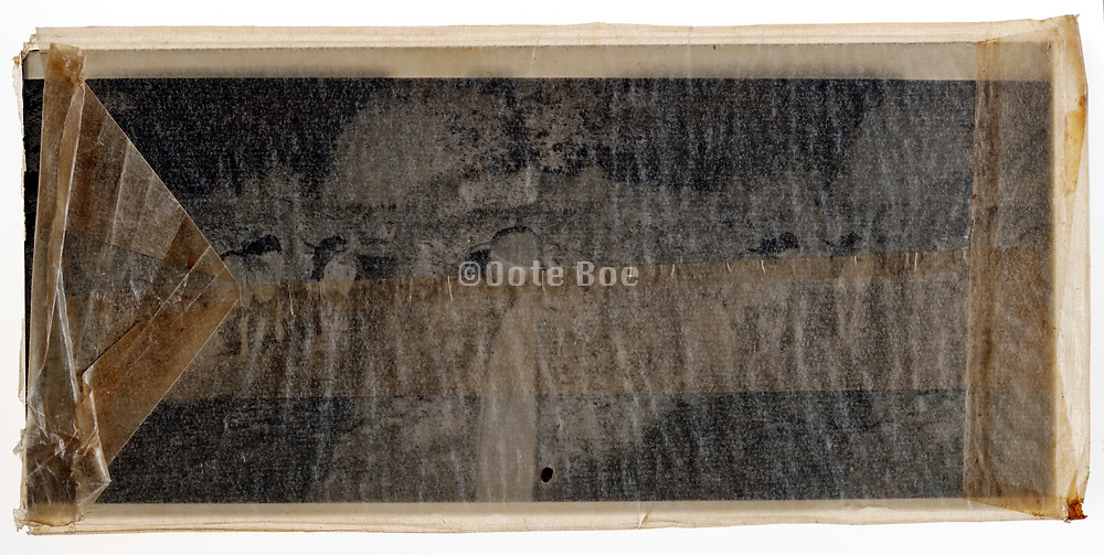 glass plate negative in protective semi transparent envelope