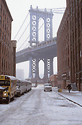 vista of Manhattan bridge from DUMBO
