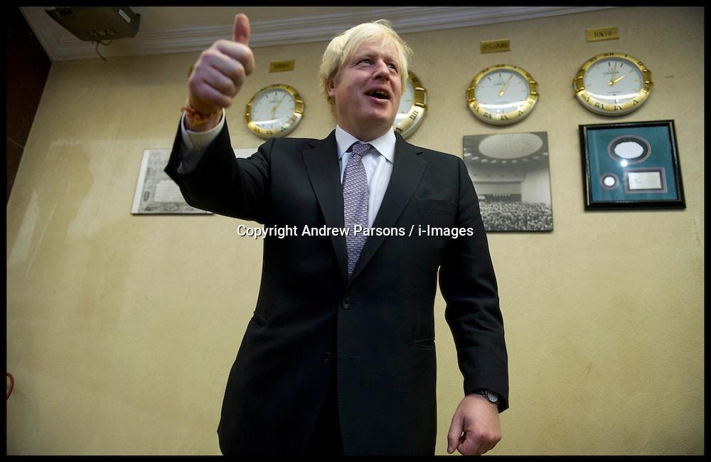London Mayor Boris Johnson  , Mumbai, on the final day of his 6 day tour of India, Friday November 30, 2012. Photo by Andrew Parsons / i-Images
