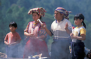 Maya Purification Ceremony near Chichicastanengo, Guatemala, Central America