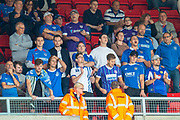Portsmouth fans during the EFL Sky Bet League 1 match between Sunderland and Portsmouth at the Stadium Of Light, Sunderland, England on 17 August 2019.