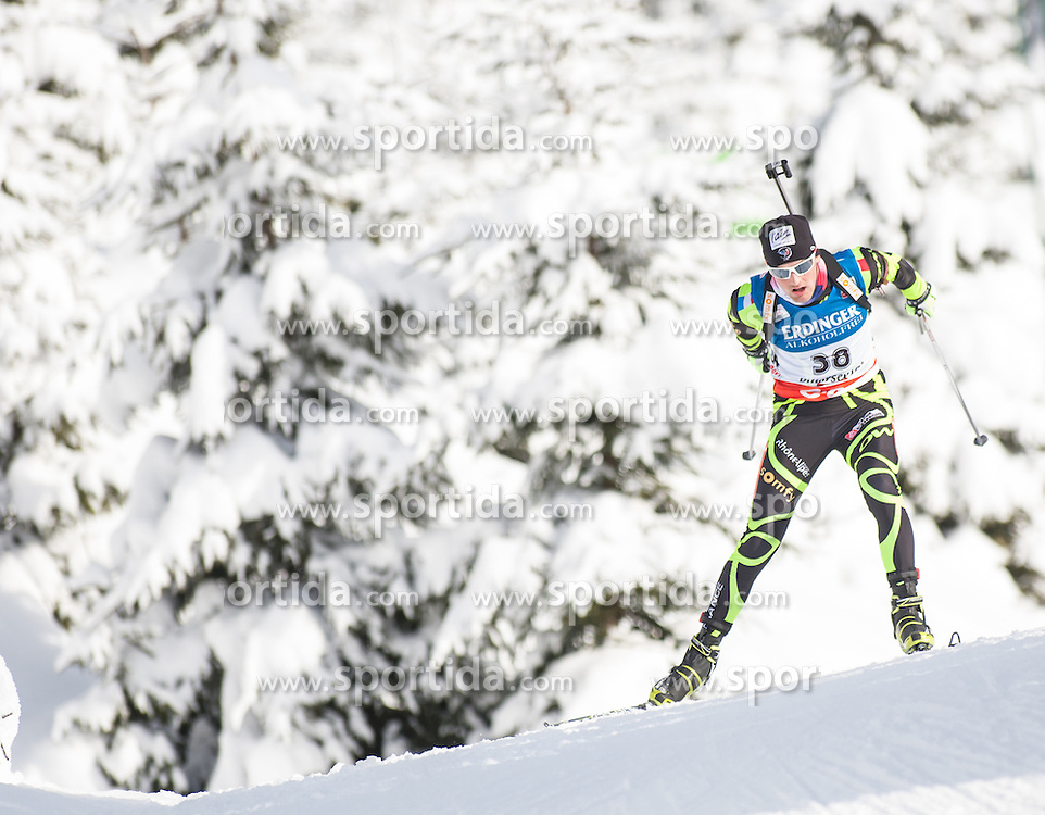 07.12.2012, Biathlonarena, Hochfilzen, AUT, E.ON IBU Weltcup, Sprint, Herren, im Bild Simon Desthieux (FRA) // Simon Desthieux of France during Mens sprint of E.ON IBU Biathlon World Cup at the Biathlonstadium in Hochfilzen, Austria on 2012/12/07. EXPA Pictures © 2012, PhotoCredit: .EXPA/ Juergen Feichter