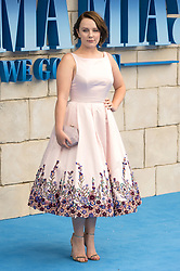 © Licensed to London News Pictures. 16/07/2018. London, UK. Alexa Davies attends the Mamma Mia! Here We Go Again World Film Premiere at Eventime Apollo Hammersmith. Photo credit: Ray Tang/LNP