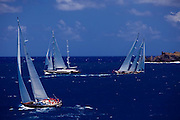Symmetry racing in the St. Barth's Bucket Regatta.