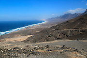 Viewpoint to Cofete beach Atlantic Ocean coast, Jandia peninsula, Fuerteventura, Canary Islands, Spain