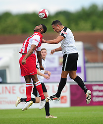 KERN MILLER CORBY TOWN HOLDS OF ROMULUS NATHAN WAITE, Corby Town v Romulus Steel Park, Corby Evo-Stik Northern Premier Division One South Saturday 12th August 2017