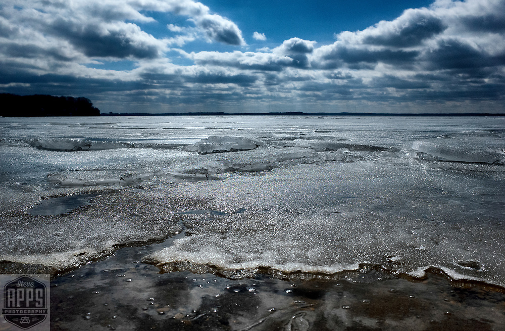 Ice melt on Lake Mendota in Madison, Wisconsin Saturday, March 18, 2017.