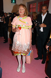 Artist GRAYSON PERRY at a dinner hosted by Harpers Bazaar to celebrate the launch of the fragrance Flowerbomb by Viktor & Rolf held at Elms lester, Flitcroft Street, London WC2 on 31st May 2006.<br />