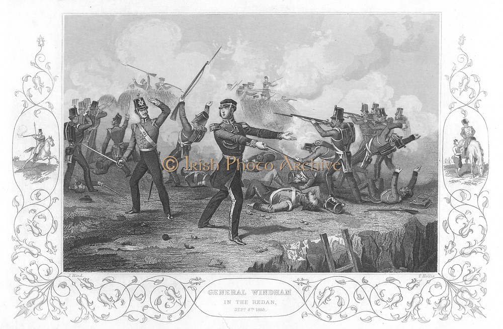 Russo-Turkish  (Crimean) War 1853-1856. Siege of Sebastopol, October 1854 to September 1855. General Charles Ash Windham (1810-1870) at the unsuccessful British assault on the Redan, 8 September 1855. Engraving