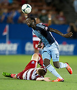 FRISCO, TX - JUNE 22:  Kei Kamara #23 of Sporting Kansas City fights for the ball against Walker Zimmerman #25 of FC Dallas on June 22, 2013 at FC Dallas Stadium in Frisco, Texas.  (Photo by Cooper Neill/Getty Images) *** Local Caption *** Kei Kamara; Walker Zimmerman