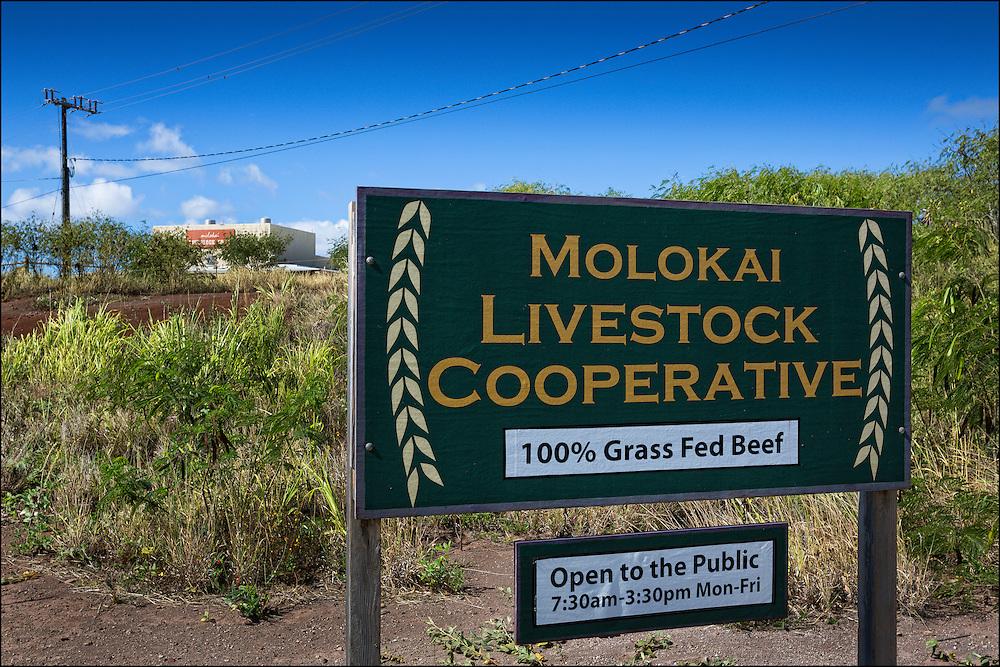 The Molokai Livestock Co-op in Ho'olehua, Molokai.  10.22.15