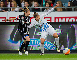 05.10.2016, Merkur Arena, Graz, AUT, UEFA CL, Damen, SK Sturm Graz Damen vs FC Zuerich Frauen, Sechzehntelfinale, Hinspiel, im Bild Julia Kofler (Graz), Selina Kust (Zuerich) // during the UEFA Womens Championsleague, round of 32, 1st Leg match between SK Sturm Graz Women and FC Zuerich Women at the Merkur Arena, Graz, Austria on 2016/10/05, EXPA Pictures © 2016, PhotoCredit: EXPA/ Dominik Angerer