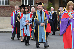 Image ©Licensed to i-Images Picture Agency. 05/07/2014. Northern Ireland, Singer Katie Melua follows the procession after Graduation at Queen's University Belfast. Picture by i-Images