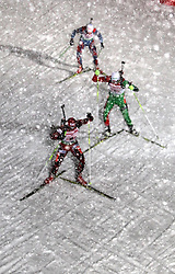05.01.2012, DKB-Ski-ARENA, Oberhof, GER, E.ON IBU Weltcup Biathlon 2012, Staffel Herren, im Bild Biathleten im dichten Schneegestöber // during relay Mens of E.ON IBU World Cup Biathlon, Thüringen, Germany on 2012/01/05. EXPA Pictures © 2012, PhotoCredit: EXPA/ nph/ Hessland..***** ATTENTION - OUT OF GER, CRO *****