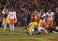 November 18, 2011: Iowa State Cyclones running back Jeff Woody (32) scores the game winning touchdown during the second overtime of the NCAA football game between the Oklahoma State Cowboys and the Iowa State Cyclones at Jack Trice Stadium in Ames, Iowa on Friday, November 18, 2011. Iowa State upset Oklahoma State 37-31 double overtime.
