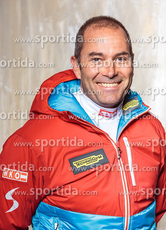 08.10.2016, Olympia Eisstadion, Innsbruck, AUT, OeSV Einkleidung Winterkollektion, Portraits 2016, im Bild Ludwig Gredler, Biathlon // during the Outfitting of the Ski Austria Winter Collection and official Portrait Photoshooting at the Olympia Eisstadion in Innsbruck, Austria on 2016/10/08. EXPA Pictures © 2016, PhotoCredit: EXPA/ JFK
