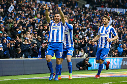 Goal, Tomer Hemed of Brighton & Hove Albion scores, Brighton & Hove Albion 1-0 Burton Albion - Mandatory by-line: Jason Brown/JMP - 11/02/2017 - FOOTBALL - Amex Stadium - Brighton, England - Brighton and Hove Albion v Burton Albion - Sky Bet Championship