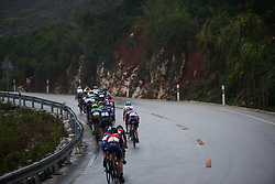 The chase group approach the top of the final climb at GREE Tour of Guangxi Women's World Tour 2018, a 145.8 km road race in Guilin, China on October 21, 2018. Photo by Sean Robinson/velofocus.com