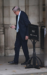 © Licensed to London News Pictures. 14/10/2015. City, UK. Conservative MP Sir Bill Cash is seen walking in Parliament. Photo credit : Peter Macdiarmid/LNP