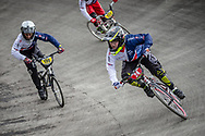 #24 during practice at the 2018 UCI BMX World Championships in Baku, Azerbaijan.