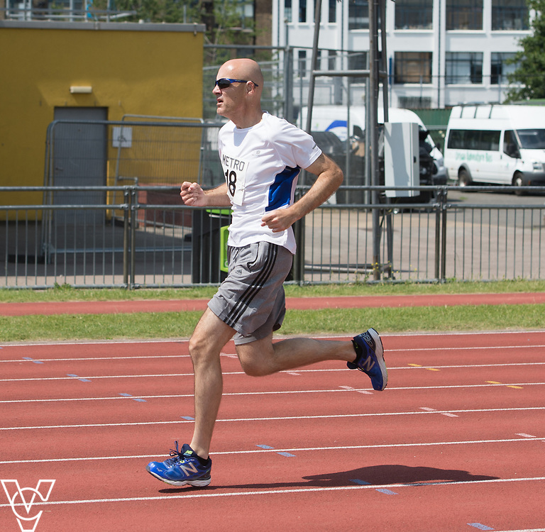 Metro Blind Sport's 2017 Athletics Open held at Mile End Stadium.  800m.  David Beynon<br /> <br /> Picture: Chris Vaughan Photography for Metro Blind Sport<br /> Date: June 17, 2017