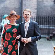 NLD/Den Haag/20170919 - Prinsjesdag 2017, Sander Dekker  en partner