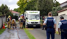 Auckland-Suspected clan lab explosion, Clendon Park