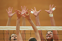 Women hands at 1st match of finals of 1st DOL women volleyball league between OK Hit Nova Gorica and OK Nova KBM Branik, Maribor played in OS Milojke Strukelj, on April 8, 2009, in Nova Gorica, Slovenia. Nova KBM Branik won 3:1. (Photo by Vid Ponikvar / Sportida)