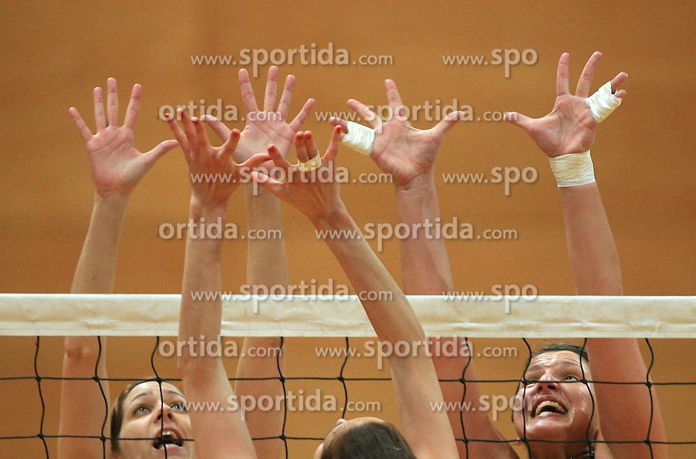 Women hands at 1st match of finals of 1st DOL women volleyball league between OK Hit Nova Gorica and OK Nova KBM Branik, Maribor played in OS Milojke Strukelj, on April 8, 2009, in Nova Gorica, Slovenia. Nova KBM Branik won 3:1. (Photo by Vid Ponikvar / Sportida)