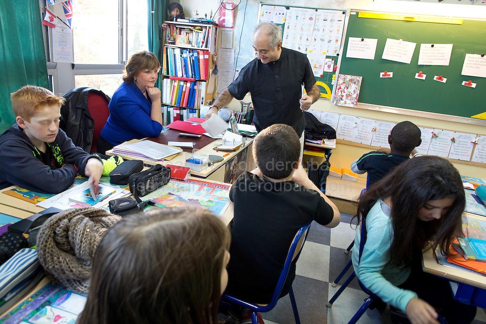 Visit of Fiona Hyslop, Scottish Government's Cabinet Secretary for Culture and External Affairs<br /> visit  a inspection de l'education nationale de la circonscription du le Plessis-Trevise