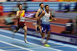 March 2, 2018 - Birmingham, England, United Kingdom - lvaro De Arriba ofSpain at 800 meter semi final at World indoor Athletics Championship 2018, Birmingham, England on March 2, 2018. (Credit Image: © Ulrik Pedersen/NurPhoto via ZUMA Press)