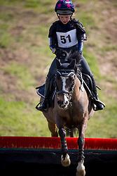 De Dycker Lien, (BEL), Fitaya B vh Avenhof<br /> Nationale Finale AVEVE Eventing Cup voor Pony's<br /> Minderhout 2016<br /> © Dirk Caremans
