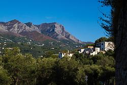 Sorrento, Italy, September 17 2017. The Monte Latarri mountains near Sorrento, Italy. © Paul Davey