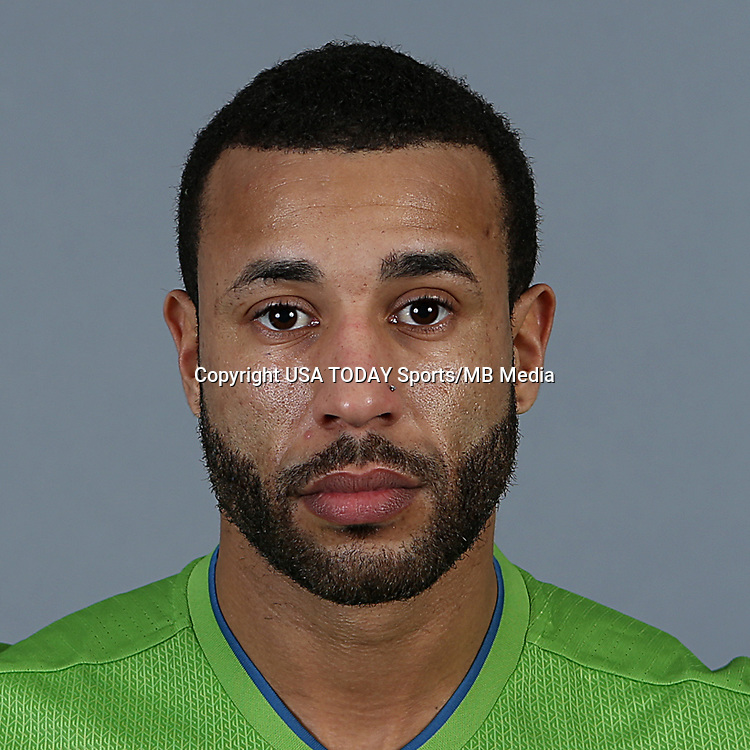 Feb 25, 2016; USA; Seattle Sounders FC player Tyrone Mears poses for a photo. Mandatory Credit: Corky Trewin-USA TODAY Sports