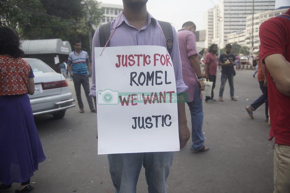 April 29, 2017 - Dhaka, Bangladesh - Bangladeshi activists demanded the end of ethnic oppression in Chittagong Hill Tracts and justice for the death of Romel Chakma an indigenous college student who was picked up by the army on April 5,  in front of The National Museum, Shahbag. (Credit Image: © Md. Mehedi Hasan via ZUMA Wire)