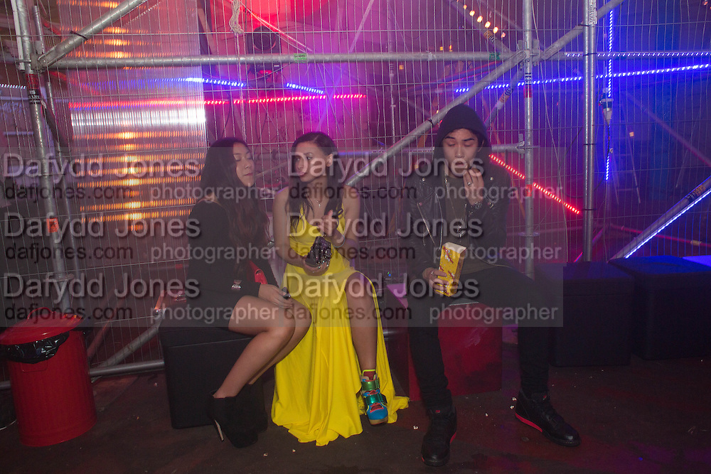 JAN LE; LEAH WELLER; TOMA KURATA, Club DKNY in celebration of DKNYARTWORKS hosted by Cara Delevingne  at The Fire Station, Lambeth High St. London. 12 June 2013