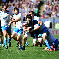 Kevin Gourdon of France during the RBS Six Nations match between Italy and France at Olimpico Stadium on March 11, 2017 in Rome, Italy. (Photo by Dave Winter/Icon Sport)