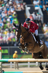 Lamaze Eric, CAN, Fine Lady 5<br /> owner of the horse of Jerome with arms in the air<br /> Olympic Games Rio 2016<br /> © Hippo Foto - Dirk Caremans<br /> 14/08/16