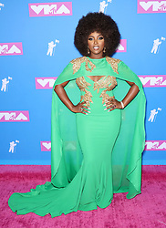 August 21, 2018 - New York City, New York, USA - 8/20/18.Amara La Negra at the 2018 MTV Video Music Awards held at Radio City Music Hall in New York City..(NYC) (Credit Image: © Starmax/Newscom via ZUMA Press)