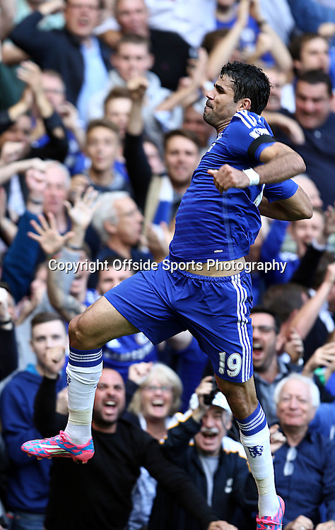 13 September 2014 - Barclays Premier League - Chelsea v Swansea City - Diego Costa of Chelsea celebrates scoring his 2nd goal - Photo: Marc Atkins / Offside.