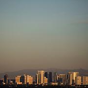 November 9, 2014, Las Vegas, Nevada:<br /> The sun sets over Las Vegas, Nevada Sunday, November 9, 2014.<br /> (Photo by Billie Weiss/TEAMS)