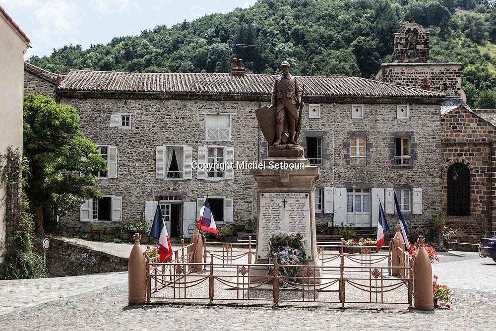 France. Haute Loire.  Blesles village , center of France, /  village de Blesles, vallee de l'alagnon , centre de la france