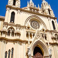 La Iglesia del Sagrado Corazón está situada en la Plaza de San Ignacio de Loyola del centro histórico de Málaga, España. The Church of the Sacred Heart is located in the Plaza de San Ignacio de Loyola the historic center of Malaga, Spain.
