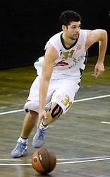 Saso Ozbolt (31) of Olimpija at Euroleague basketball match of Group C between KK Union Olimpija, Ljubljana and Maroussi B.C., Athens, on October 29, 2009, in Arena Tivoli, Ljubljana, Slovenia. Olimpija lost 75:81.  (Photo by Vid Ponikvar / Sportida)