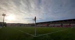 A general view of the Hope CBD Stadium prior to the Ladbrokes Scottish Premiership match at Hope CBD Stadium, Hamilton.